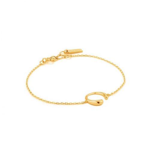 Gold Luxe Curve Bracelet