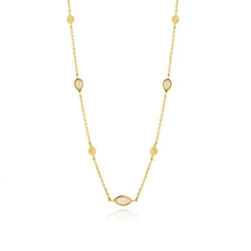 Opal Colour Gold Necklace