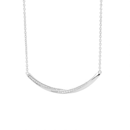 Sterling Silver Twisted Bar Necklace