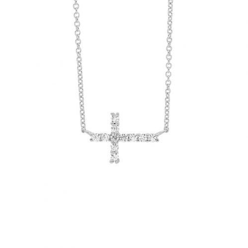 Sterling Silver Laid Cross Necklace