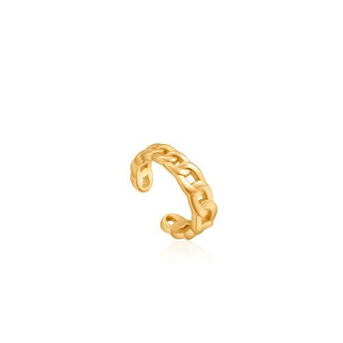 Gold Curb Chain Ear Cuff