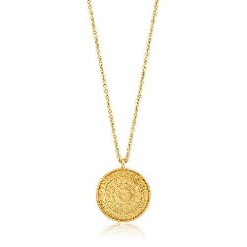 Gold Verginia Sun Necklace