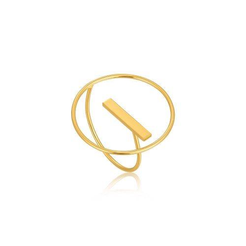 Gold Modern Circle Adjustable Ring