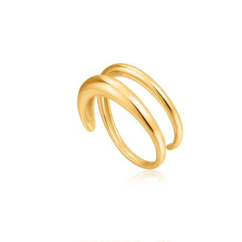 Gold Luxe Twist Adjustable Ring