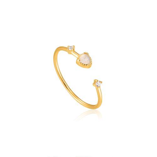 Gold Midnight Adjustable Ring