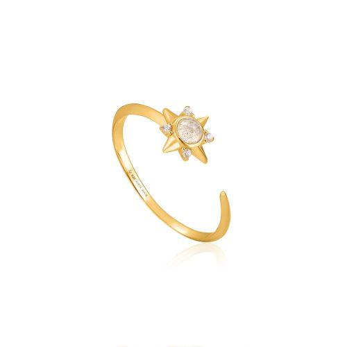 Gold Midnight Star Adjustable Ring