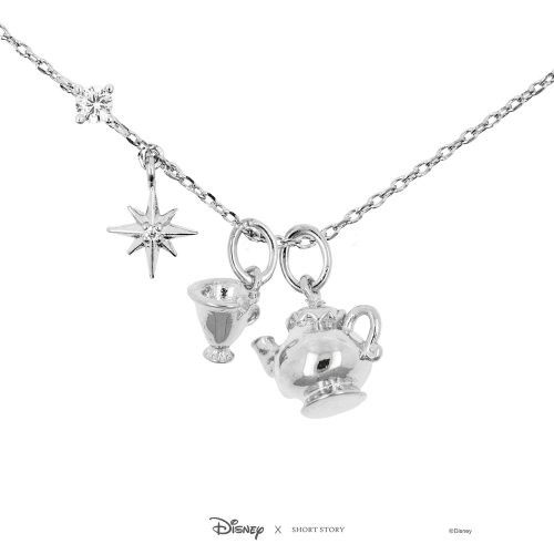 Disney Chip and Mrs Pot Charm Necklace