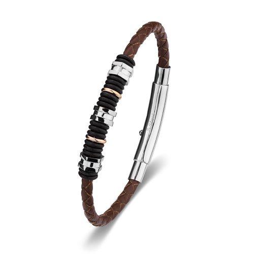 Adjustable Leather bangle brown
