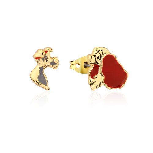 Disney Lady & the Tramp Stud Earrings Yellow Gold