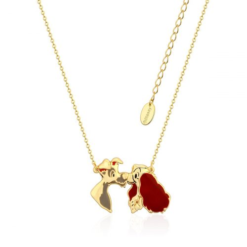 Disney Lady & the Tramp Necklace Yellow Gold