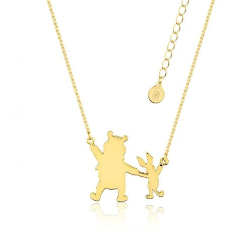 Disney Winnie the Pooh & Piglet Necklace Yellow Gold