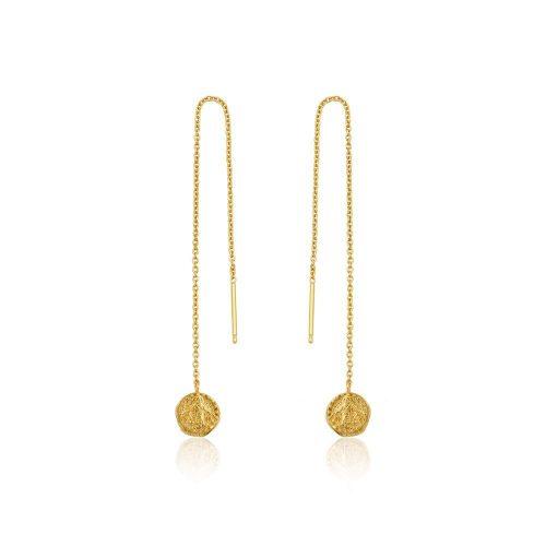 Gold Deus Threader Earrings