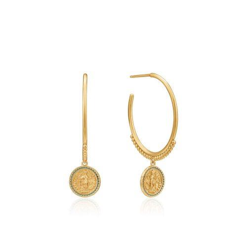Gold Emperor Hoop Earrings