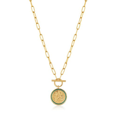 Gold Emperor T-bar Necklace