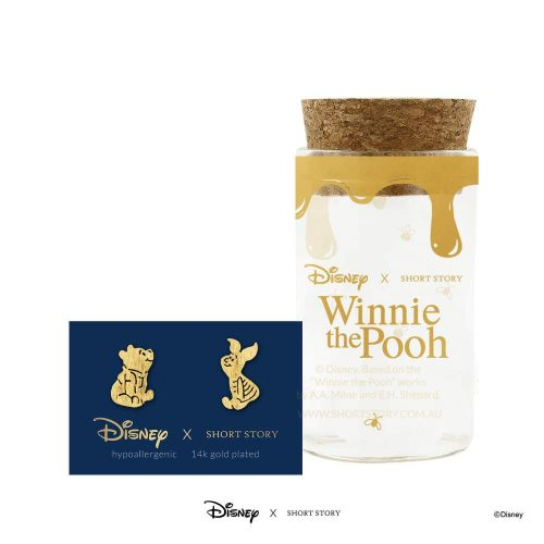 DISNEY EARRING POOH AND PIGLET GOLD