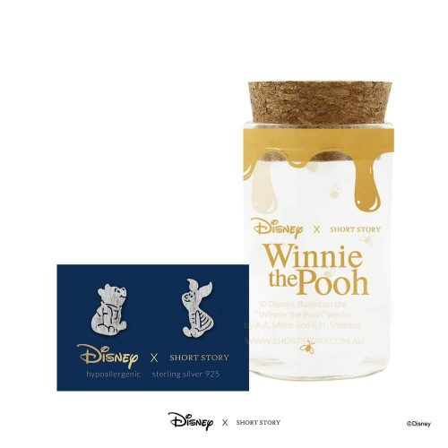 DISNEY EARRING POOH AND PIGLET SILVER