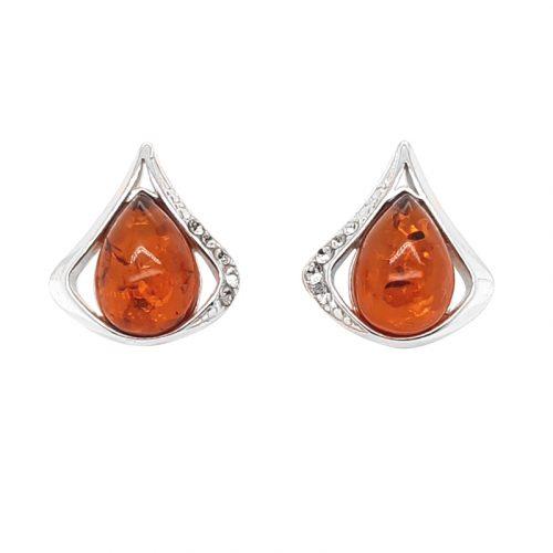 Genuine Baltic Amber Stud Earrings 285