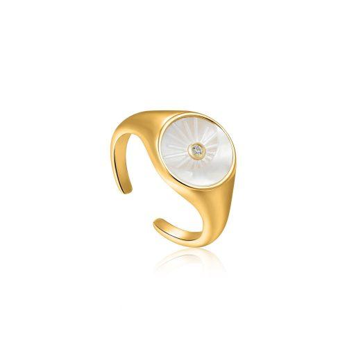 Eclipse Emblem Gold Adjustable Ring