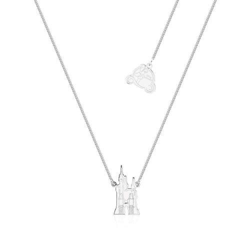 Cinderella Castle Necklace Silver