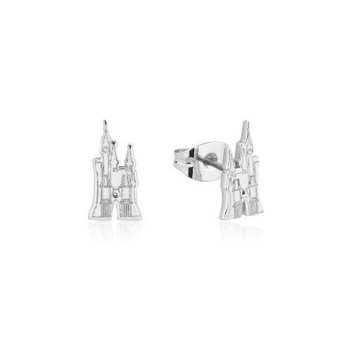Cinderella Castle Stud Earrings Silver