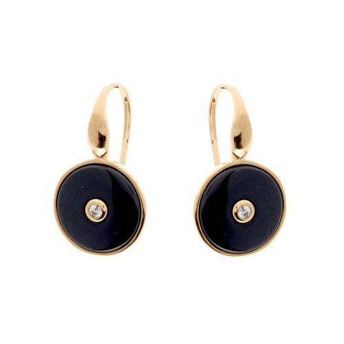 OLIVIA GOLD & BLACK EARRINGS