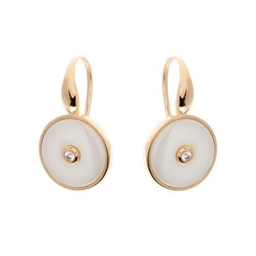 OLIVIA GOLD & WHITE EARRINGS