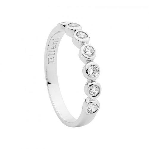 Sterling Silver CZ Bezel Set Ring