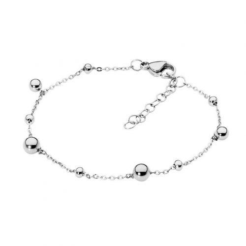 Stainless Steel Ball Charm Bracelet