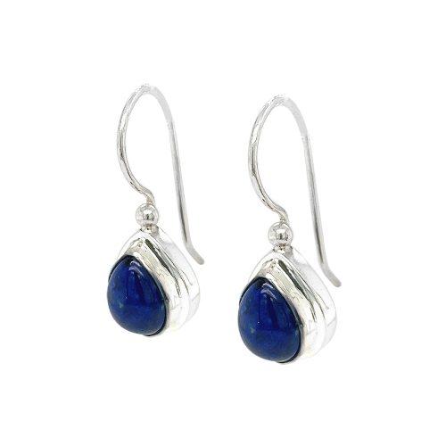 Small Tear Drop Lapis Lazuli Sterling Silver Earrings