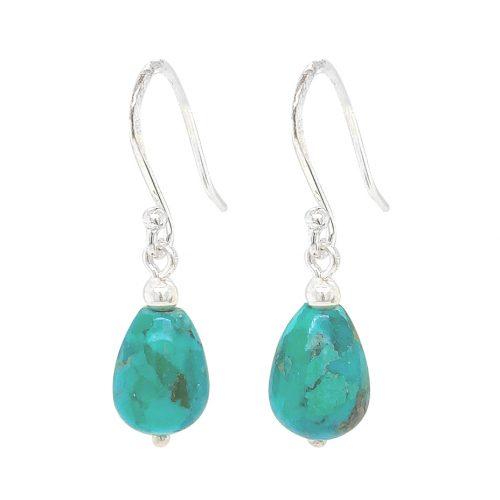 Chrysocolla Sterling Silver Drop Earrings