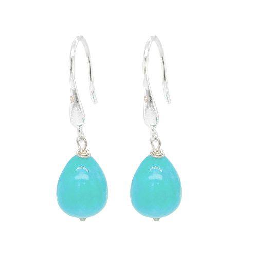 Amazonite Sterling Silver Drop Earrings