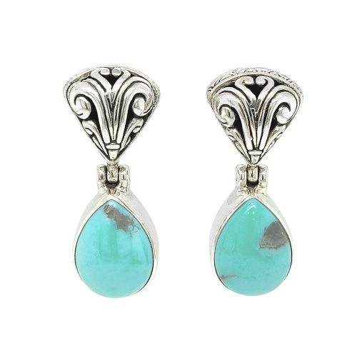 Turquoise Sterling Silver Statement Drop Earrings