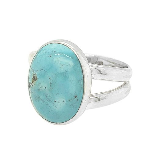 Turquoise Oval Shape Sterling Silver Ring