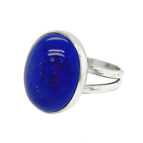 Oval Lapis Lazuli Sterling Silver Ring