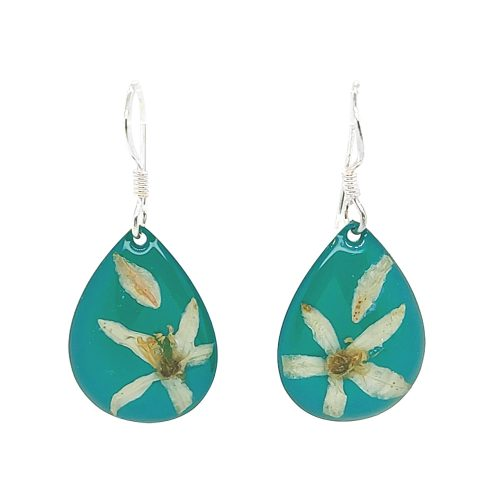 Assorted Earrings Long Leaf Wax Green